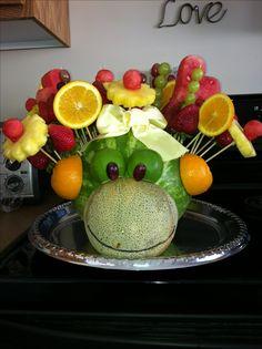 Watermelon monkey! So cute, & super easy