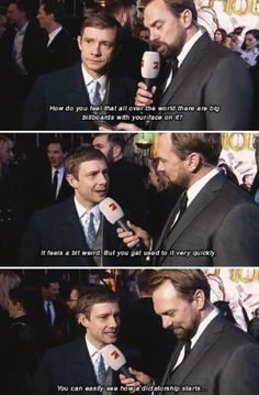 He has the best interviews.