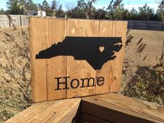Home Sign Custom State - You Choose Your State Heart on your Choice of City!   $22 plus shipping