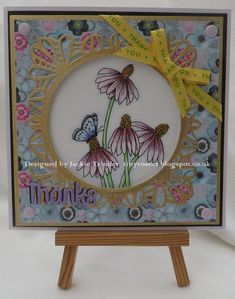 Tinyrose's Craft Room: made with the Cone Flowers and Butterfly image from Sweet'n'Sassy.