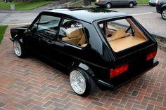 Perfect specification on this GTI - black paintwork, cream interior rolling on BBS wheels. Golf 1 Cabrio, Golf 1 Gti, Vw Cabrio, Volkswagen Golf Mk1, Scirocco Volkswagen, Vw Mk1 Rabbit, 147 Fiat, Jetta Mk1, Automobile