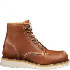 CMW6170 Carhartt Men's Wedge Work Boots - Tan www.bootbay.com