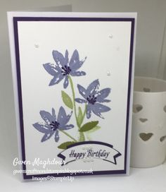 Simplicity with Avant Garden stamp set.