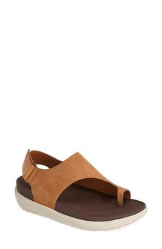 FitFlop 'Loosh' Nubuck Toe Loop Sandal (Women) available at #Nordstrom