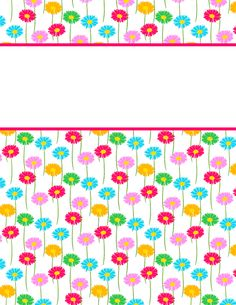 Free printable daisy binder cover template. Download the cover in JPG or PDF format at http://bindercovers.net/download/daisy-binder-cover/