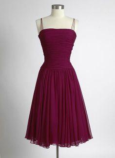 formal dresses short,formal dress short,1950s Plum Ruched C
