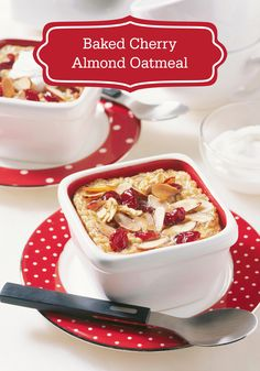 ... Baked Cherry Almond Oatmeal is a treat the whole family will love