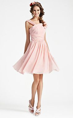 Maria's pick - A-line V-neck Sleeveless Knee-length Chiffon Bridesmaid Dress