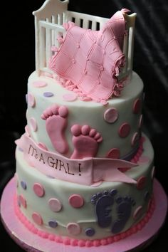 It's A Girl Baby Shower Cake @ Happy Learning Education Ideas
