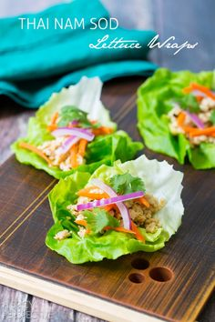 Nam Sod Lettuce Wraps #healthy #thai