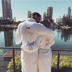 Robe game so on point, almost too on point! #couplegoals #honeymoon