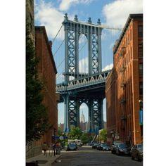 Manhattan Bridge from DUMBO, Brooklyn, New York from Deborah Julian Art and Gift Shop for $30 on Square Market
