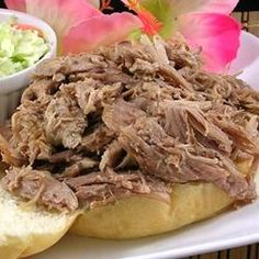 Kalua Pig in a Slow Cooker - This is the BEST!!  I actually use a pork shoulder which is $1.67 a pound and people rave about it. MT