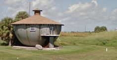 This weird little metal house is one of Galveston's most notable architectural oddities.