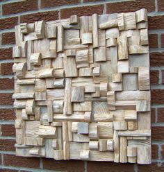 White Dream.(2012) Stained wooden blocks. 24″x24″