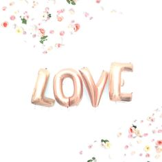 LOVE Balloons 40 Gold Letter Balloons Copper Gold Gold Letter Balloons, Gold Letters, Love Balloon, Balloon Banner, Engagement Party Decorations, Valentines Day Decorations, Copper Rose, Rose Gold, Party Supplies