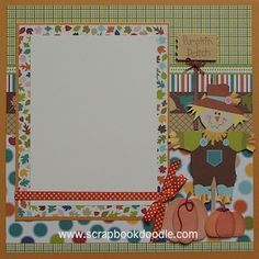 one fall day scrapbook layout