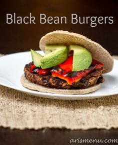 Black Bean Burgers via @Ari's Menu #vegan #glutenfree #recipe