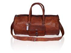 Weekend Overnight Duffel Bag Leather Handmade with Vintage Look