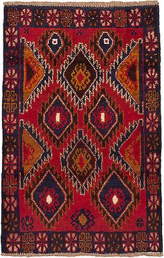 "CLEARANCE SALE...Hand-knotted Afghan Carpet 2'10"" x 4'3"" Bahor Rug"