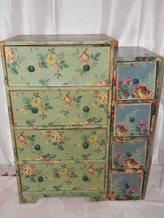 Vintage shabby chic lingerie chests