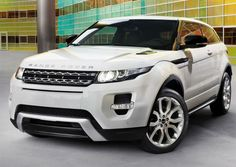 Range Rover Evoque White Front Angle