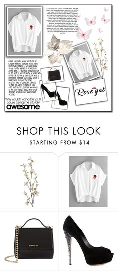 """""""Rosegal"""" by lara-m21 ❤ liked on Polyvore featuring Pier 1 Imports, Givenchy and Casadei"""