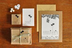 bastisRIKE HANNA & BEN Hochzeitspapeterie // summer wedding stationery stamp set