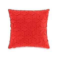image of Teen Vogue® Painted Poppy Square Throw Pillow in Red
