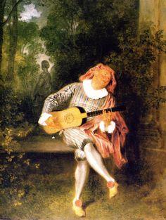 Mezzetin - Jean-Antoine Watteau - circa 1720
