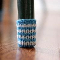 Chair Socks Floor Protector Pattern  - to replace those stick-on felt floor protector circles!!! {use a solid colour yarn to match chair legs}