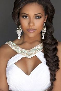 27 Black Women Wedding Hairstyles ❤ See more: http://www.weddingforward.com/black-women-wedding-hairstyles/ #weddings #hairstyles