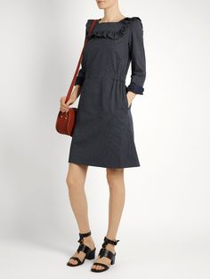 Click here to buy A.P.C. Mel polka-dot twill dress at MATCHESFASHION.COM