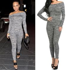 05d2cb6eb22 Knit Jumpsuit Lightweight knit. Dark and light grey. Cowl neck (can be worn