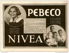 Original-Werbung/Inserat/ Anzeige 1926 : BEIERSDORFER NIVEA / PEBECO ca. 180 x 135 mm