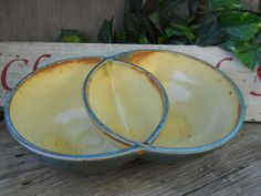 Handmade Pottery Bowl Double serving bowls by ClayRoadStudios, $48.00