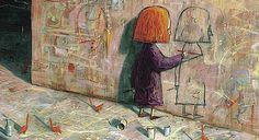 "The Red Tree, Shaun Tan. Australian, born in 1972 above ""Self Portrait"" below ""Reflection"" Via Shaun Tan, Art And Illustration, Illustration Children, Trauma, Visual Literacy, Grafiti, Red Tree, Limited Edition Prints, Fine Art Paper"
