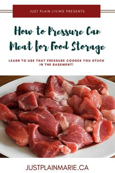 You can #pressure can any kind of #meat for long-term, convenient #foodstorage #canning #preservation #pantry
