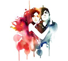 Water Paint - Maybe our colors will run together. ;)