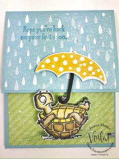 Solution to help your friends out beat Corona-Virus Fun Fold Cards, Folded Cards, Cat Cards, Kids Cards, Umbrella Cards, Stampin Up Catalog, Pocket Cards, Stamping Up Cards, Get Well Cards