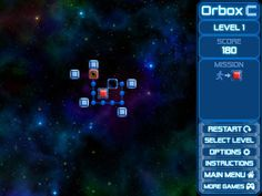 Orbox C is a great mind challenging game! Move the orbox in beautiful space levels. You will have various missions to go. It will push your logical abilities to work and a good training! Think ahead or trace backward path. All methods are a good use. Enjoy this great puzzle game!