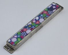 FREE SHIPPING  Modern Mezuzah case colorful by PolyAndClayed