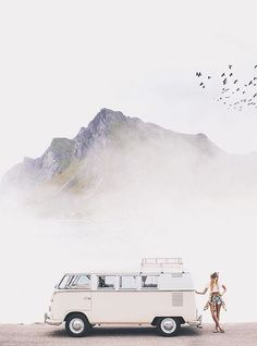 Volkswagon Van - Volkswagen Camper :: The perfect vintage travel companion for the beach, surf, camping + summer road trips