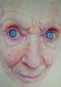 I would much rather draw old people than young... there is so much going on raw, wrinkles, shaddow, i love it all