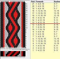 19 tarjetas, 3 colores, repite cada 12 movimientos // sed_891 diseñado en GTT༺❁