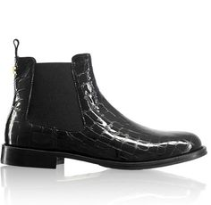 8bb515211 Russell Bromley black ankle boots - CADOGAN Brogue Chelsea £195 ...