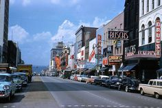 Market Street in 1960 Chattanooga, Tennessee