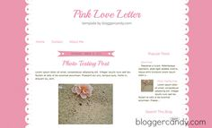 Pink Love Letter - Blogger Candy