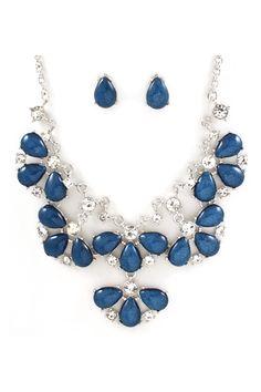 Magaline Necklace Set in Blue Shimmer on Emma Stine Limited