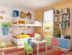 a fun, colorful kids room